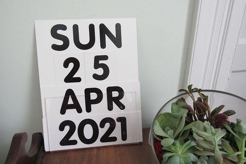 SeeCal calendar displaying April 25, 2021